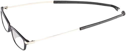 infactory Lesebrille mit Halsbügel: Umhänge-Lesehilfe m. ausziehbaren Bügeln & Magnet-Verschluss, 3,0 dpt (Lesebrille zum Umhängen mit Magnet)