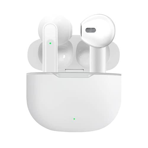 Auricolari wireless Bluetooth 5.0 con cancellazione del rumore IPX5, auricolari impermeabili in-ear, microfono integrato, cuffie audio 3D, compatibili con Phone/Android/Samsung per lavoro, casa