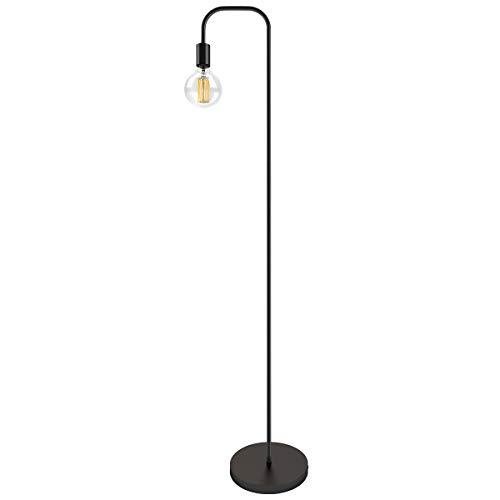 Oneach Industrial LED Floor Lamp for Living Room Bedroom Reading Office Metal Minimalist Standing Lamp Black