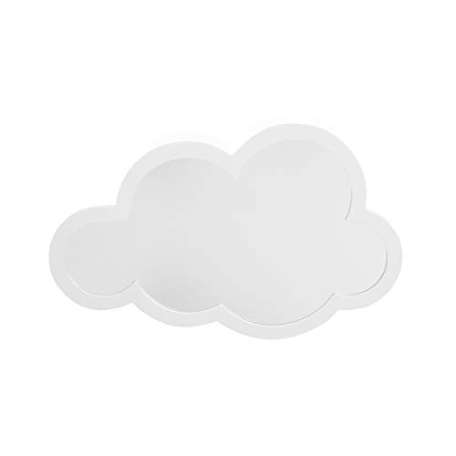 Little Love by NoJo – White Cloud Shaped Shatterproof Decorative Mirror Wall Art, Nursery, Bedroom or Playroom Décor