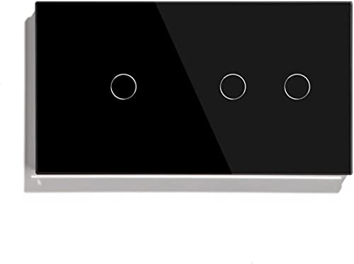 KFJZGZZ Interruptor Tactil 1 Gang 2 Sensor Touch Sensor Interruptor 1 Vía 2 Vía Interruptor de Luz Blanco Blanco Clase de Oro Clase de Panel Interruptor Impermeable Interruptor Inteligente
