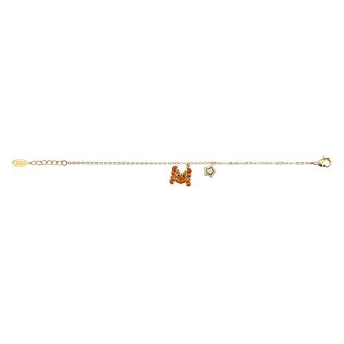 THUN - Bracciale da Donna con Segno Zodiacale Cancro - Oroscopo - Gioielli Donna - Ottone Placcato Oro e Ceramica