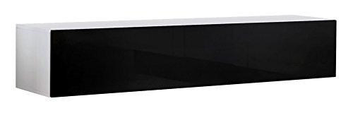Lettiemobili – Mobile TV modello Forli M (100 cm) bianco nero