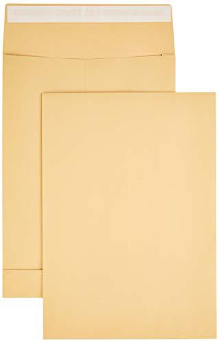AmazonBasics - Faltentasche, B4 (250x353x40 mm), Haftklebung, Braun, 130 g/m², 100 Stück