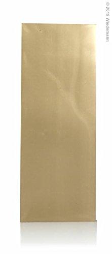 Wiedemann Beschriftungsfolien, Wachs, Gold, 10 x 4 cm, 25-Einheiten