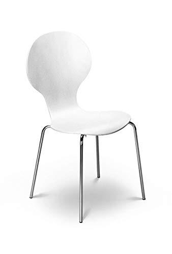 Julian Bowen Keeler - Set 4 sedie colore: Bianco
