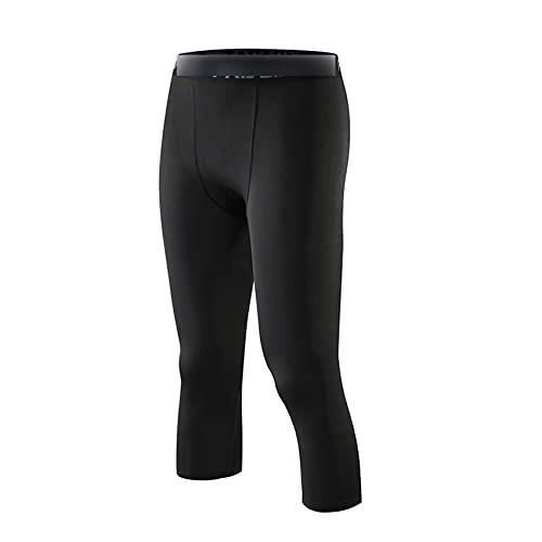 Pantaloni A Compressione da Uomo Calzamaglia da Uomo Leggings per Corsa Palestra Sport Fitness Pantaloni da Allenamento Quick Dry Fit da Jogging