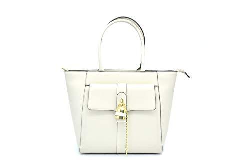 Cafe noir - shopping bag con accessorio a lucchetto - unica - perla