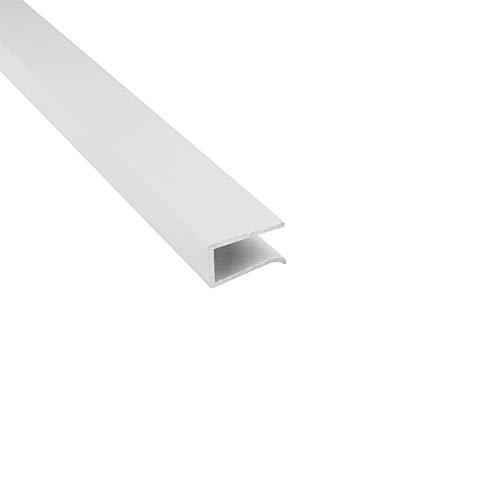G03 LED Glaskantenprofil Kühlprofil Weiss 1m