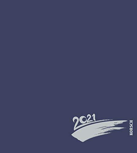 Foto-Malen-Basteln Bastelkalender dunkelblau 2021: Fotokalender zum Selbstgestalten. Do-it-yourself Kalender mit festem Fotokarton. Edle Folienprägung. Format: 21,5 x 24 cm