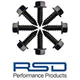 RSD Never Rust License Plate Screws for Domestic Cars & Trucks Black Stainless (Never Rust)