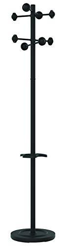 Unilux Accueil Garderoben-Ständer, mit Schirmständer, 175 cm hoch, schwarz