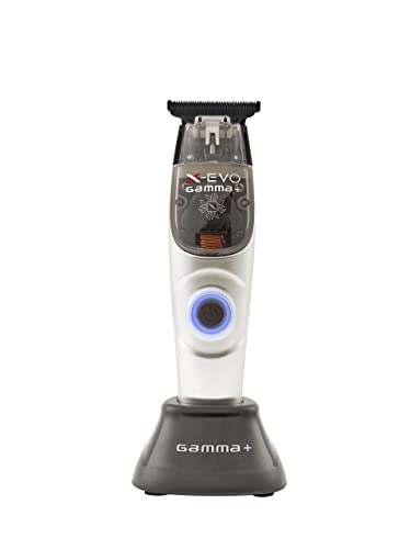 GAMMA+ X-Evo Trimmer Microchipped Motor with Interchangeable Body Mods Matte, 3 Guards, Charging Stand