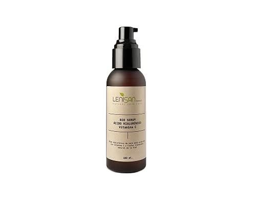 Serum facial de ácido hialurónico puro y vitamina C (100 ml). 100% natural. Efecto antiarrugas instantáneo y duradero para cara, contorno de ojos, cuello y escote.