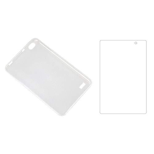 Haude Funda de Tableta + Protector de Pantalla para Teclast P80 P80X P80H Funda de Silicona AnticaíDa para Tableta de 8 Pulgadas
