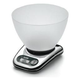 Laica BX9240 Bilancia da Cucina Elettronica, Base Cromo, Ciotola Vitrex, 5 kg, elettrica, alluminio