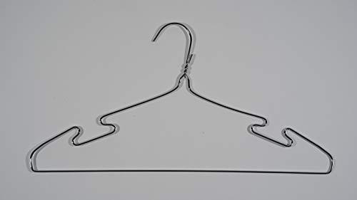 stampelle 20pz acciaio grucce Appendiabiti in Acciaio Inox stampella per Jeans, Sciarpe, Cravatte, Vestiti 20.4x40cm