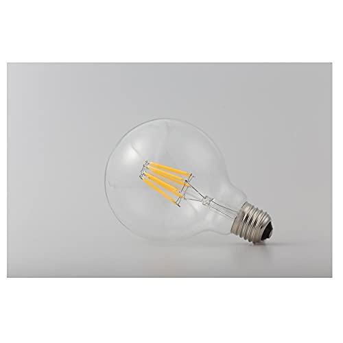 HHF LED Bulbs Lamps, Led Filament Bulb G80 G95 G125 Big Global Light Bulb 4W 6W 8W Filament Edison Bulb E27 Clear Glass Indoor Lamp AC220V (Emitting Color : White)
