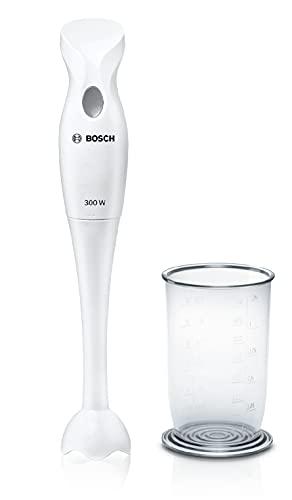 Bosch Elettrodomestici MSM6B150 CleverMixx Mixer a Immersione, 300 W, 1 Liter, 1 Decibel, Plastica, Bianco