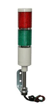 American LED-gible LD-5222-101 LED Tower Light, LED Andon Light, LED stacklight, 24VDC, R/G with Flashing Capabilities