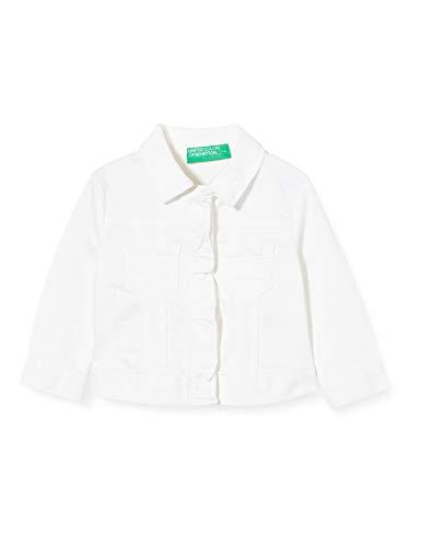 United Colors of Benetton Giubbino Chaqueta Deportiva, Blanco (Bianco 101), 86/92 (Talla del Fabricante: 2Y) para Bebés