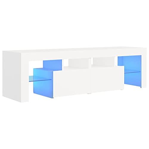 vidaXL Mobile Porta TV con Luci LED Bianco 140x35x40 cm