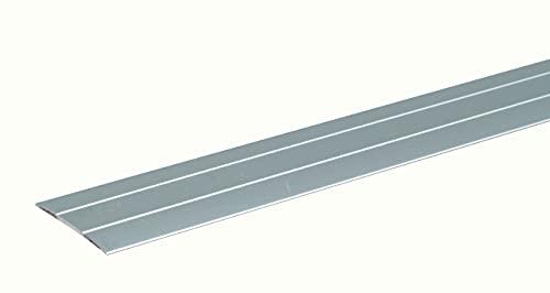 GAH-Alberts 484491 Übergangsprofil   selbstklebend, mit zwei Rillen   Aluminium, silberfarbig eloxiert   900 x 38 mm