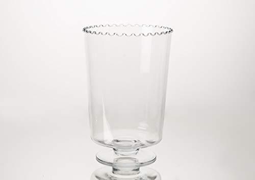 Amadeus - photophore Transparent collerette h35 cm