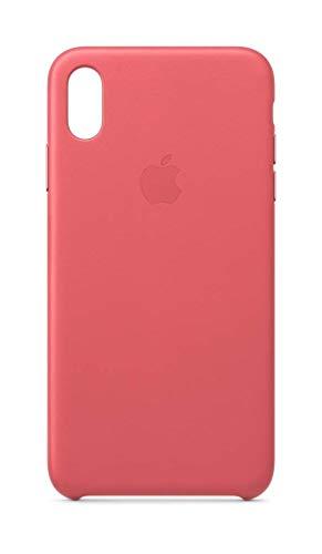 Apple Leder Hülle (iPhoneXS Max) - Pfingstrosenpink