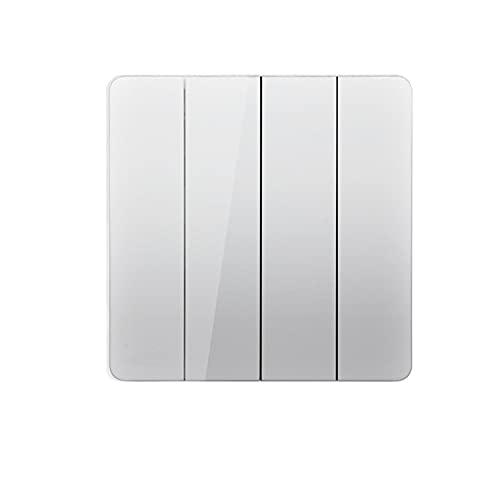 Yoaodpei Interruptor de luz Interruptor de luz de pared Panel Tipo 86 Interruptor basculante oculto Interruptor de alimentación de pared Interruptor sin marco de placa grande blanca Controlador de fue