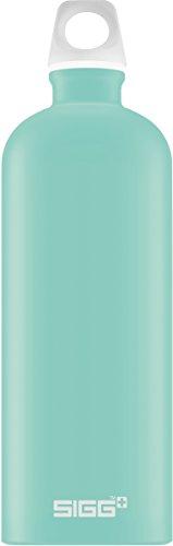 SIGG Lucid Glacier Touch Trinkflasche (1 L), schadstofffreie und auslaufsichere Trinkflasche, federleichte Trinkflasche aus Aluminium