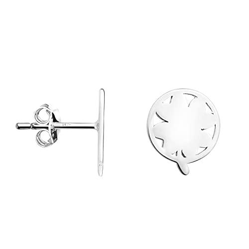 SOFIA MILANI - Pendientes de mujer de plata 925 – Pendientes de flores circulares – 20980