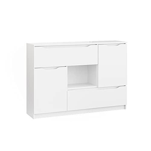 VICCO Kommode Ruben Weiß 4 Schubladen 120 cm Sideboard Mehrzweckschrank Schrank