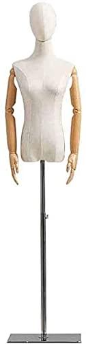 Maniquí Confección Maniquí Femenino Aumento De Los Brazos Y La Cabeza, Vestido Ajustable Manikin Para La Exhibición De La Ropa / Decoración De La Habitación / Ventana De La Tienda ( Color : Style 4 )