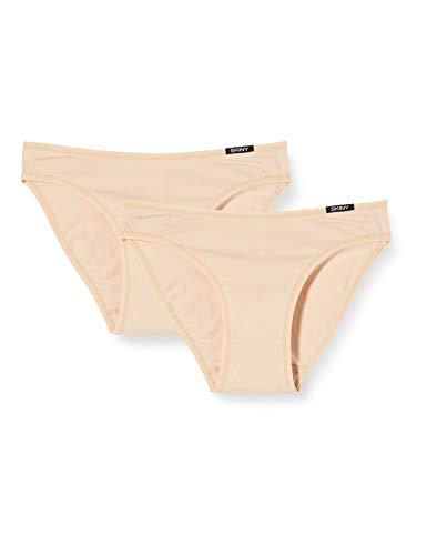Skiny Damen Advantage Cotton Rio Slip Taillenslip (2er Pack), Elfenbein (Skin 9622), 44