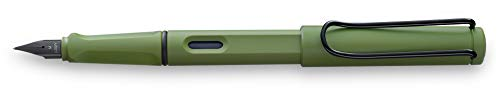 LAMY Safari 041 – Pluma estilográfica moderna en color Savannah con mango ergonómico y diseño atemporal – Pluma M