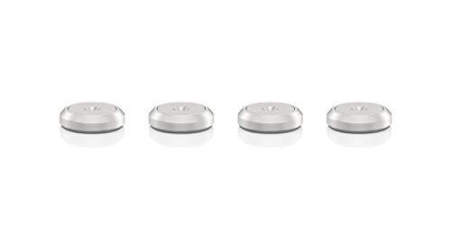 VIABLUE Basic Discs für QTC und HS * Set 4 Stück * 2-teilige Discs * Silber * Unterlegscheiben für Spikes, Auflageteller * Ø 16 mm