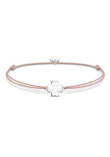 Thomas Sabo Little Secret Armband Kleeblatt 925 Sterlingsilber/Nylon Rosa