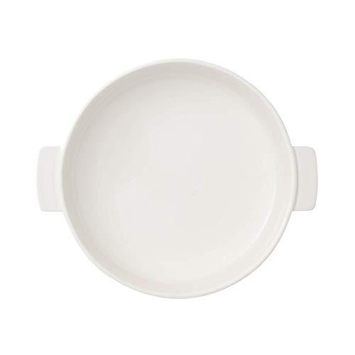 Villeroy & Boch Clever Cooking Plat à four rond avec couvercle, 2 pièces, 28 cm, Porcelaine Premium, Blanc