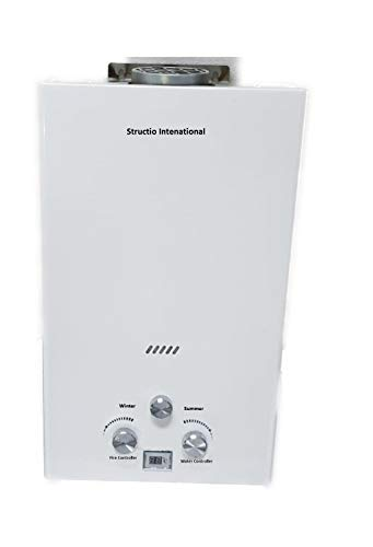 Scaldacqua istantaneo a gas, boiler, scaldabagno portatile, da campeggio, per fare la doccia, 10litri, doccia da campeggio, per fare la doccia ai cav