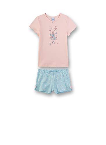 Sanetta Mädchen Pyjama kurz Zweiteiliger Schlafanzug, Rosa (rosa 3990), 92 (Herstellergröße:092)