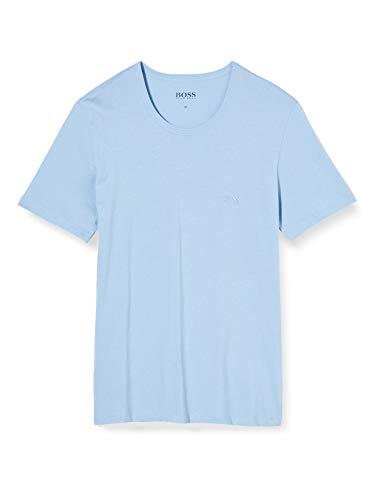 BOSS Herren T RN 3P CO Baselayer-Shirt, 3er Pack, Open Blue481, M