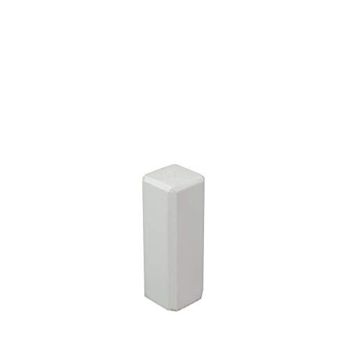 Trevendo® Eckturm 4er Pack Eckstab Innenecke, Außenecke Leisten Verbinder Echtholz weiß lackiert (22 x 22 x 61 mm (E2))