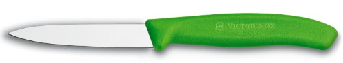 Victorinox 3.25 Inch Swiss Classic Paring Knife with Straight Edge, Spear Point, Green