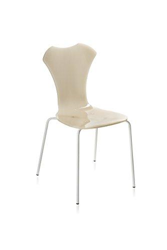 Iplex Design Negatieve stoel van plexiglas, kleur pieno, koffie