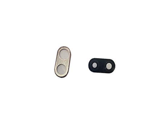 Ricambio vetro posteriore vetrino scocca lente obbiettivo+Cornice (GOLD) RING rear fotocamera BACK camera + BIADESIVO ADESIVO,COMPATIBILE Per Huawei P20 Lite ANE-LX1 LX2 LX3 L21  NOVE 3E