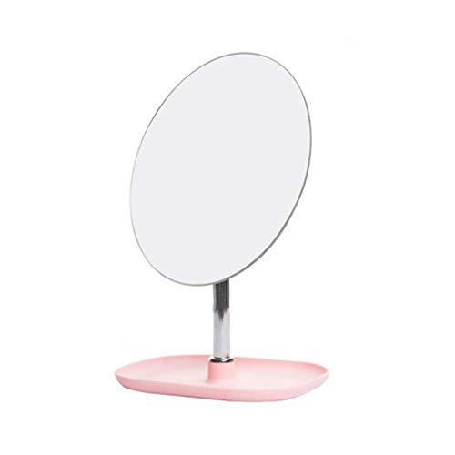 Espejo Maquillaje Vestido espejo espejo de maquillaje, espejo de afeitado plegable pequeño 360 ° espejo ajustable de manera portátil-conveniencia de tablero de mesa de belleza espejo de belleza espejo