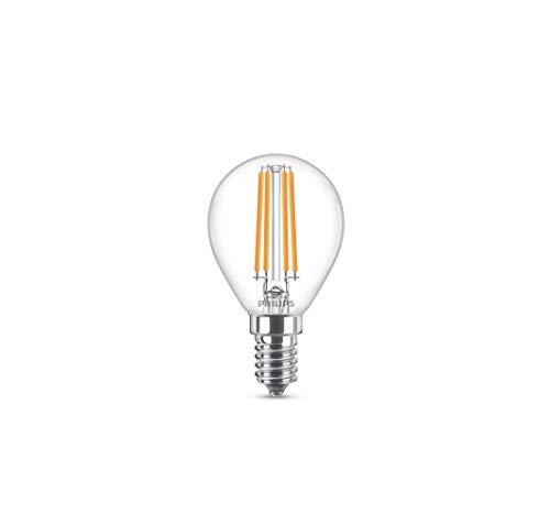 Philips LEDclassic 60W, E14, warmweiß (2700 Kelvin), 806 Lumen, matt LED Lampe, Glas, 6.5 W, klar