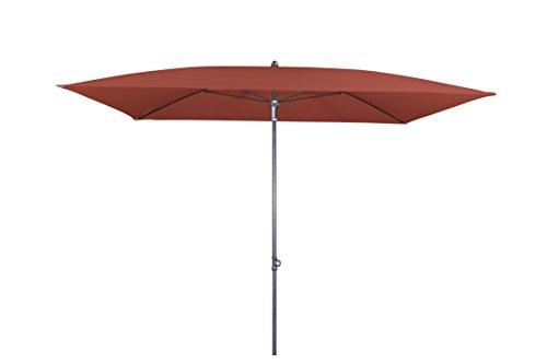 Doppler Absolut wasserdichter Gartenschirm Waterproof 225x120 ohne Volant, UV-Schutz 80, Farbe Terracotta