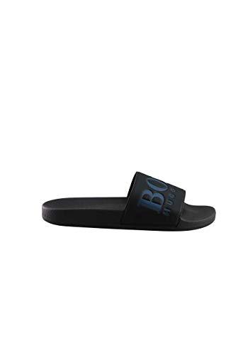 Boss Shoe Sandalen Pantoletten Solar_Slid_Logo 10208293 Schwarz-Blau 40 EU